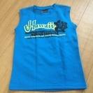 ノースリーブシャツ(青)140