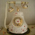 アンティーク調電話機(本体 陶器製ノリタケ)
