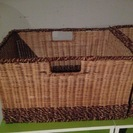収納ボックス カゴ 籐製っぽい ア...