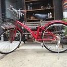 中古 赤 24インチ  自転車