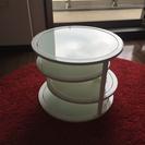 4段 ガラスラウンドテーブル