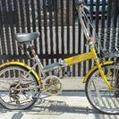20インチ アサヒサイクル折り畳み自転車 イエロー