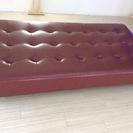 美品 大型 フラット ソファー