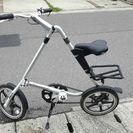 オシャレな折りたたみ自転車 ストライダLT シルバー 値引き交渉可
