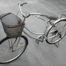 シルバー色の自転車♪