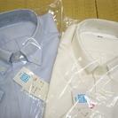 【新品!】ユニクロ/半袖ビジネスシャツ×2枚セット(白・青×Lサイズ)