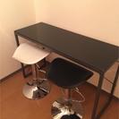 ガラステーブル&カウンター椅子