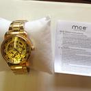 未使用 スケルトン腕時計