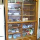 収納力ある大きめ食器棚 ※運搬楽になりました