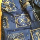 ○交渉中○未使用☆カーテン(2枚紺色)