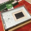 値下げ★フジカラー写真時計アルミ★新品