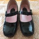 フォーマル エナメル黒靴 19cm