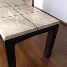 終了【取りに来ていただける方限定】大理石天板のダイニングテーブル