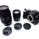 一眼レフ デジタルカメラ 完動品 交換レンズ2本 LUMIX DM...