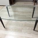 【美品】ガラステーブル