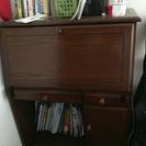ライティングビューロー(勉強机としても) 椅子付 本棚とお揃い 大...