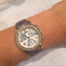 美品♡フォリフォリ 腕時計  ラインストーンパヴェ