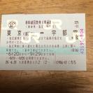 東京宇都宮間 新幹線回数券