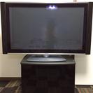 テレビ台付き40型HITACHI液晶テレビ