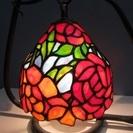 【ステンドグラス】ランプ◆薔薇◆バラ◆吊り型◆照明◆卓上◆インテリア