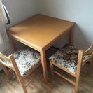 食卓テーブル椅子2脚セット