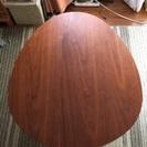 お取置き中 美品❗️天然木ウォルナットのタマゴ型テーブル