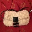 希少☆フェンディ コレクション物 毛糸素材 セミショルダーバッグ