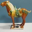【唐三彩】中国美術◆馬◆置物◆オブジェ◆インテリア