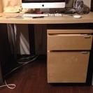 IKEA デスク・袖机つき