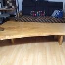 白栃の一枚板ローテーブル
