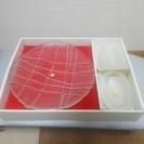 【値下げ】HOYAクリスタル盛皿、豆皿セット(未使用品)