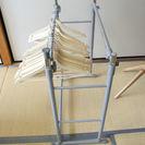木製ハンガー10個付 ハンガーラック