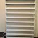 CDラック、DVDラック、本棚(スチール/ホワイト/スリム/大容量)