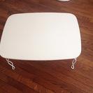 猫脚折りたたみテーブル(ホワイト)60×45cm