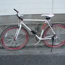 スポーツ自転車 シングルスピード リアタイヤパンクしてます。