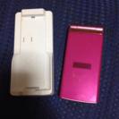 交渉中)au  携帯(K006)&専用充電台     ほとんど傷なし