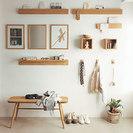 壁に付けられる家具・長押・幅44cm・タモ材/ナチュラル