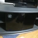 テレビボード 黒 ガラス扉