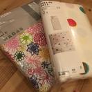 ◆IKEAシングル掛け布団カバー2個セット新品!