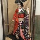 日本人形② 作者不詳 ガラスケース入り 美品
