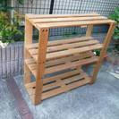 木製の組み立て式の棚、さし上げます