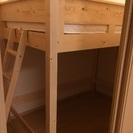 木製ロフトベッドセミダブル(ポケットコイルマットレス付)
