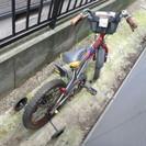 自転車18インチ男児用(色味はメタリックレッド)