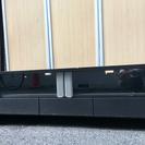 【無料】140cm ローテレビボード ガラス戸付