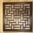 アジアン風格子木製インテリアパネル