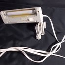 コンパクトなクリップ式ライト(中古)オーム電機