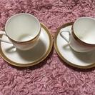 小さめのペアコーヒーカップ