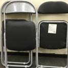パイプ椅子 ブラック4脚