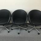 丸椅子3脚セット 黒  高さ80横66奥行き64
