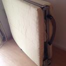 シングル 折りたたみベッド+高反発マット